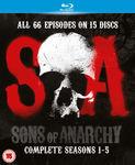 Sons of Anarchy 1-5 Blu Ray $27.36 Delivered @ Zavvi