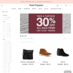 Hush Puppies 30% off on Sale Items