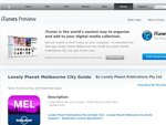 Free iPhone Lonely Planet Melbourne City Guide 01 NOV