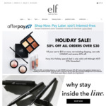 50% Off Orders above $30 With Code, Free Shipping Min Spend $40 @ e.l.f. Cosmetics