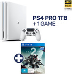 PlayStation 4 Pro 1TB Glacier White Console + Destiny 2 Deluxe $463, or Star Wars Bundle $481.50 Delivered @ EB Games eBay