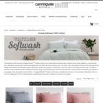 Canningvale Vintage Softwash Cotton Sheet Sets & Quilt Covers ~55% OFF