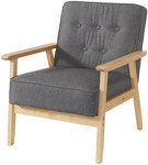 Scandi Style Occasional Chair (Pewter & Mocha Colours) for $59 @ The Reject Shop