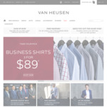 Van Heusen 3 Business Shirts for $89, Free Shipping over $100