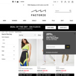 $10 Trackies & Hoodies Deal of The Day @ Factorie  - Free Shipping on Orders over $50