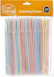 Smart Value Drinking Straws 200pk $0.75 @ Big W