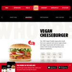 2x Vegan Cheeseburgers for $8.90 @ Hungry Jack's