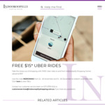 FREE Uber Rides to or from Indooroopilly Shopping Centre in Brisbane from 22 - 26 Nov + 15 - 26 Dec (up to $15)