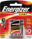 Energizer AAA/AA Max Batteries 4 Pack for $2 @ Big W