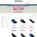Friends & Family - Extra 50% Sitewide (Sale + Full Price) @ Crocs