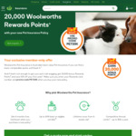 20,000 Woolworths Rewards Points after Taking out Pet Insurance