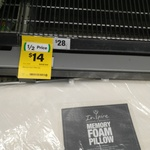 Inspire Memory Foam Pillow $14 @ Woolworths
