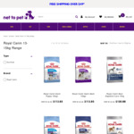 $20 off Any Royal Canin 13-15kg Dog Food (Starting from $87.95) + Delivery (Free in Select Areas) @ Net to Pet