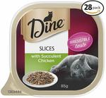 Dine Cat Food 85g Chicken 28pk $21 + Delivery ($0 with Prime/ $39 Spend) @ Amazon AU