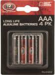 SCA Alkaline AAA Batteries - 4 Pack $1 @ Supercheap Auto