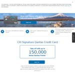 100k-150k Qantas FF Points @ Citi VISA Signature Qantas Credit Card, $5K Spend in 90 Days; $49 First Year Fee