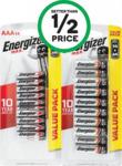 Energizer Max AA Pk 16 or AAA Pk 14 $8.75 @ Woolworths
