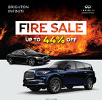 [VIC] Up to 44% off Infiniti Cars (Eg.QX70 Was $84,273, Now $46,888 Drive Away) @ Infiniti Brighton