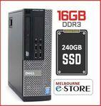 [Refurb] Dell Optiplex 9010 SFF i5-3570 3.4GHz 16GB NEW 240GB SSD Win10Pro Desktop PC $239 Delivered @ Melbourne-eStore eBay