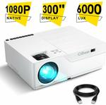 Cibest Native 1080p LED Video Projector 6000 Lux $161.99 USD + Delivery @ Amazon US