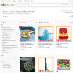 [eBay Plus] Buy 1 Get 4 Free (about 500 Items to Choose from) $15-$69.95 @ Shopping Square eBay