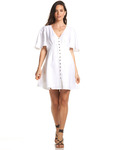 Hani Buttoned Linen Dress $119.95 Delivered (Save $30) @ Soon Maternity