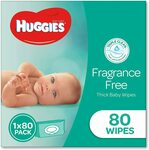 Huggies Baby Wipes Pop-up Tub 80 $5.99, Soft 80 Pack $3.99, Refill Pack of 400 $14.99 + Delivery (Free with Prime) @ Amazon AU