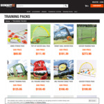 50% off Sports Training Packs + Delivery ($0 for Items over $100) @ SUMMITsport