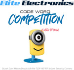 Win a Stuart Cam Minion Despicable Me 720P Indoor Security Camera Worth $129.95 RRP from Elite Electronics