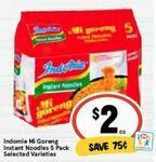 Indomie Mi Goreng Noodles - 5 Pack from $2 @ IGA