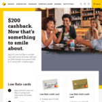 Commbank CBA Low Rate Credit Card $200 Cashback if You Spend $1,000 by 31 January 2021 (Existing CBA Customers)