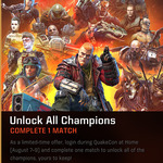 [PC] Unlock All Characters for Free by Completing One Match of 'Quake Champions' during Quakecon (August 7 - 9 Central Time)