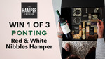 Win 1 of 3 Ponting Wines Red & White Nibbles Hampers Worth $137 from Seven Network