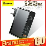 Baseus 120W GaN USB C Charger US or EU Plug $46.56 USD (approx $65.35 AUD) @ AliExpress BASEUS Officialflagship Store