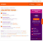 amaysim 6 Months | 125GB | $125 (Was $150) | Unltd Talk 28 Countries | $17 Cashback