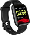 116 Plus Wristband Sports Fitness Blood Pressure Heart Rate Waterproof Smartwatch D13, A$13.57/US$9.69 Delivered @ GearBest