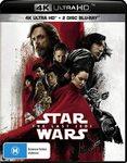 [Prime] Star Wars: The Last Jedi (4K Ultra HD + Blu-Ray + Bonus) $10.97 Delivered @ Amazon AU