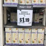 [VIC] Bonsoy Almond Milk $1.19 (Was $3.99) @ Supa IGA Sydney Rd, Brunswick
