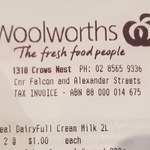 [NSW] Tilba Real Dairy Full Cream Milk 2L $1 @ Woolworths, Crow's Nest
