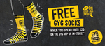 Free GYG Socks with $20 spend @ Guzman y Gomez (GYG)