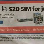 [SA] $20 Coles Mobile Sim (30days 15GB Data) for $9.50 with Puchase of The Advertiser Newspaper @ Coles
