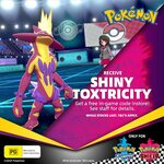 [Switch] Free Shiny Toxtricity Code for Pokémon Sword and Shield @ EB Games (in-Store Only)