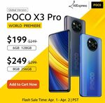 "POCO X3 Pro 6.67"" 120Hz, SD860, 6GB + 128GB US$218.90 (~A$288.58) Delivered @ POCO Global Store AliExpress"