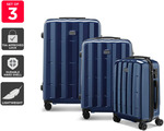 Orbis 3 Piece Azores Spinner Luggage Set (Navy) $59.99 Delivered (Was $199.99) @ Kogan