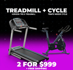 Horizon TR5.0 Treadmill & Tempo Indoor Cycle Bike $999 (RRP $1348) Delivered @ Johnson Fitness & Wellness