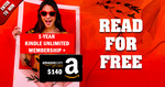 Win 1-Year Kindle Unlimited Membership + a $140 Amazon Gift Card @ Bookthrone