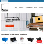 20% off Storewide + Delivery @ Archive Boxes Australia