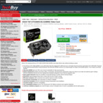 Back Order: ASUS TUF Gaming GeForce GTX 1660 SUPER 6GB GDDR6 $588.50 + Delivery (Free Pick up) @ Techbuy