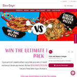 Win 1 of 100 Pizza Party Packs Worth $697.89 from Bakers Delight