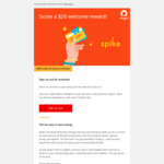 Bonus 2000 Points (Redeemable for $20 PayPal Credit) When You Sign up to Origin Spike (Origin Customers Only)